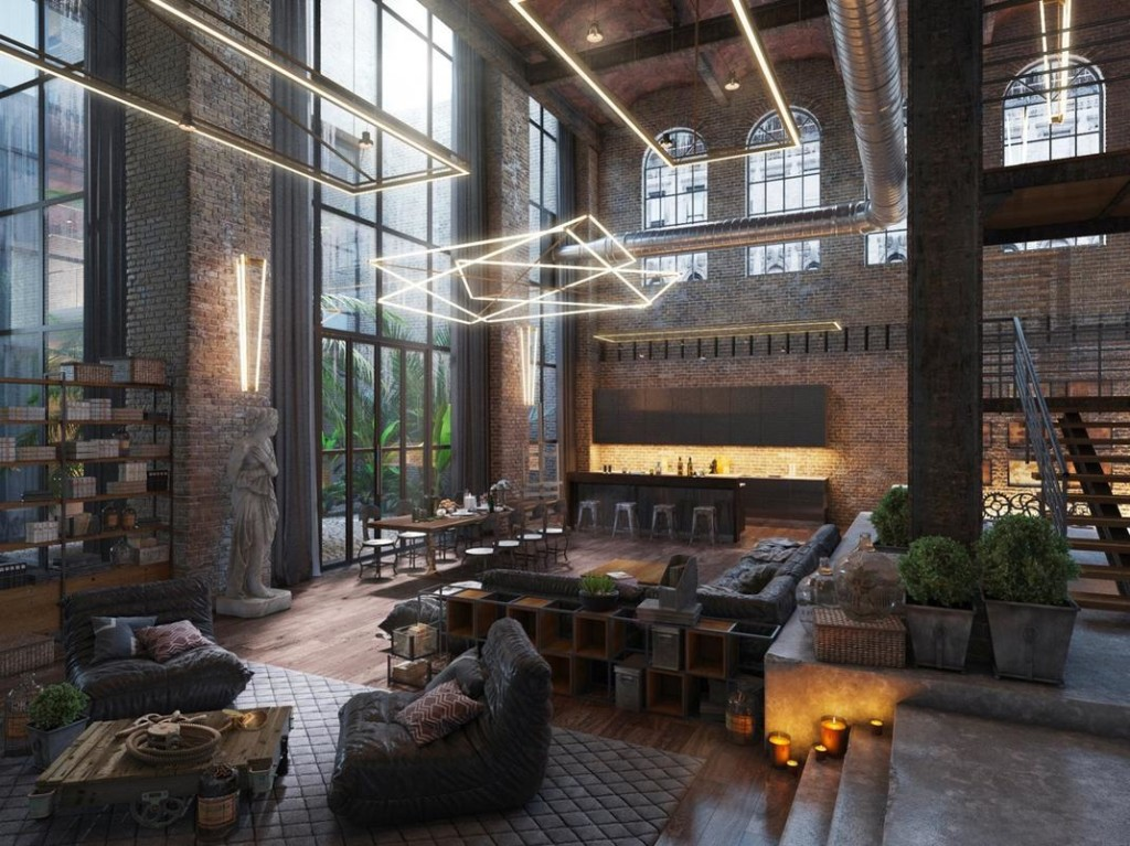 This amazing loft concept was an entry from Evermotion's 'Whole Lotta Loft' competition 2015.