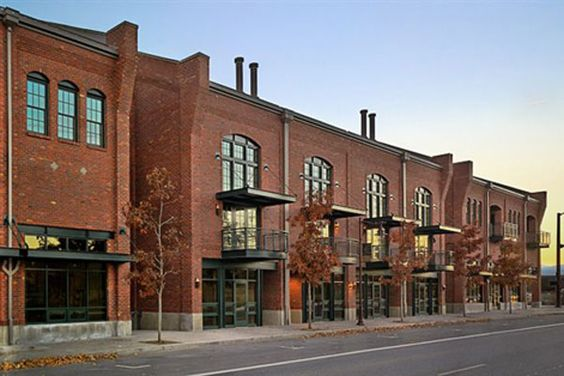 Set in the historic Old Mill District of Bend, Oregon, the Mill Quarter phases are beautiful conversions by BLRB Architects.